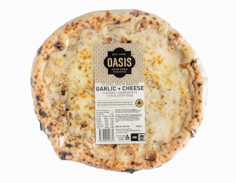 Stone Oven Garlic & Cheese - ready to eat | Oasis