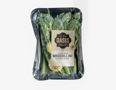 Brocollini W/ Duqqa & Butter 200G - salads, ready to eat | Oasis