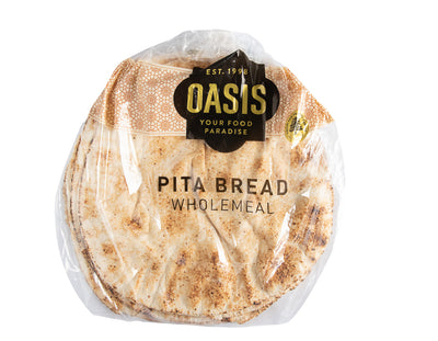 Pita Bread - Wholemeal 500G - bread | Oasis
