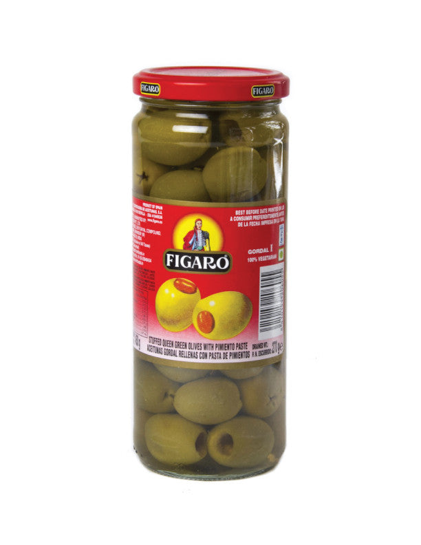 Figaro Stuffed Queen Olives 450G