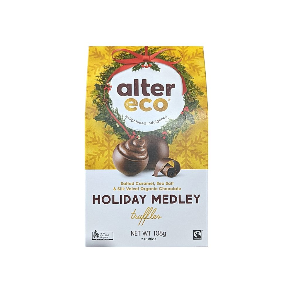 Alter Eco Holiday Medley Truffles 108G - snacks | Oasis