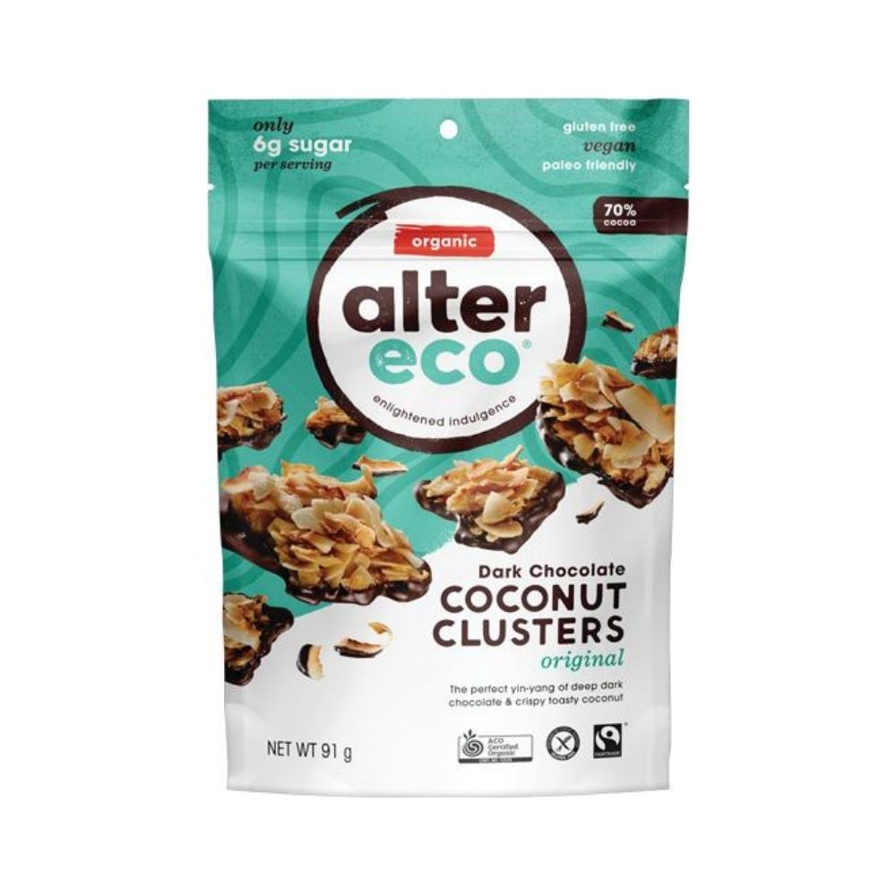 Alter Eco Original Coconut Clusters 91G - snacks | Oasis