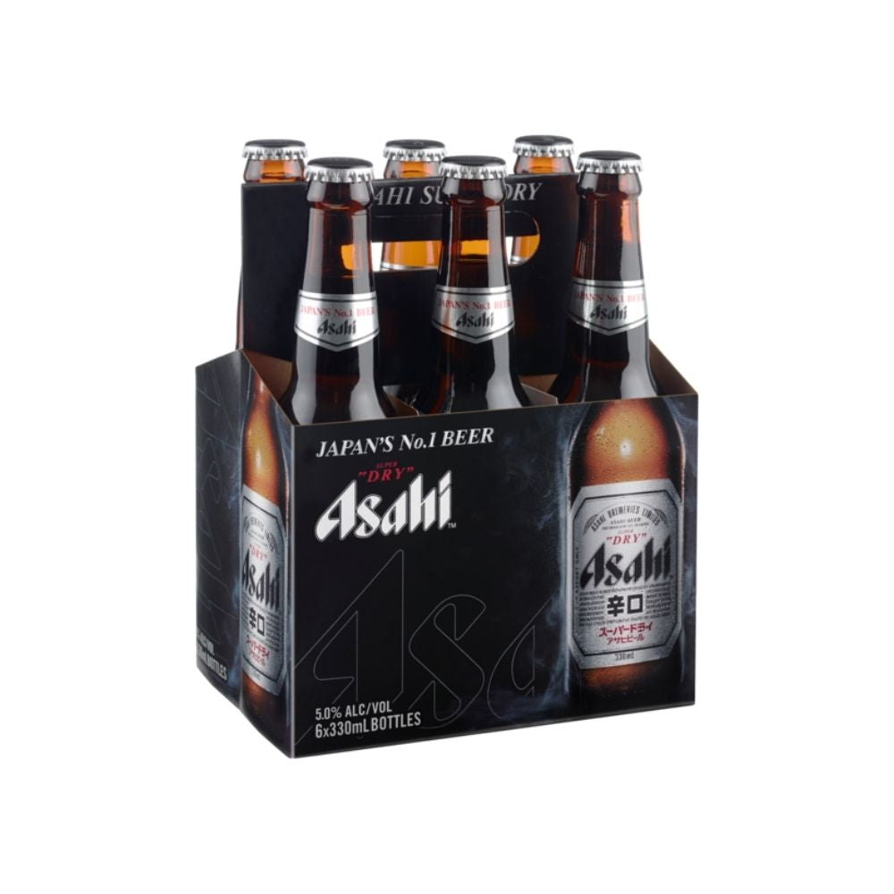 Asahi Super Dry Beer Bottles 6 x 330ML Pack -  | Oasis