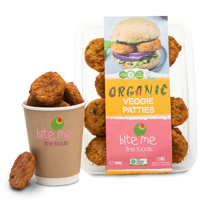 Bite Me Fine Foods Organic Veggie Patties 300G - ready to eat | Oasis