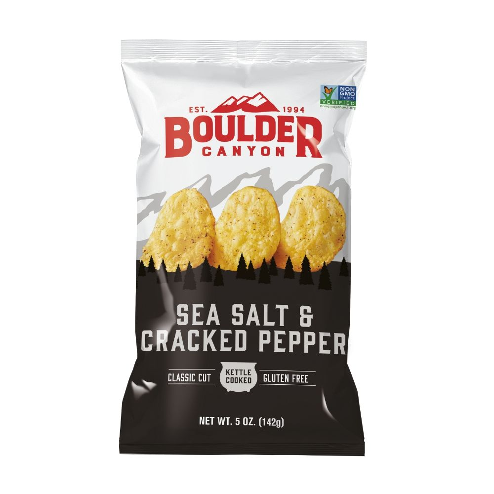 Boulder Canyon Sea Salt & Cracked Pepper 142G - Snacks | Oasis