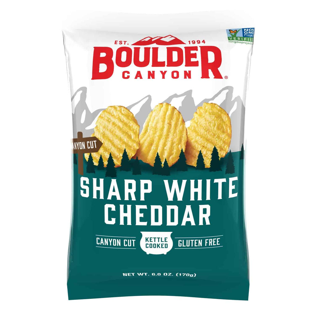 Boulder Canyon Sharp White Cheddar 170G - Snacks | Oasis