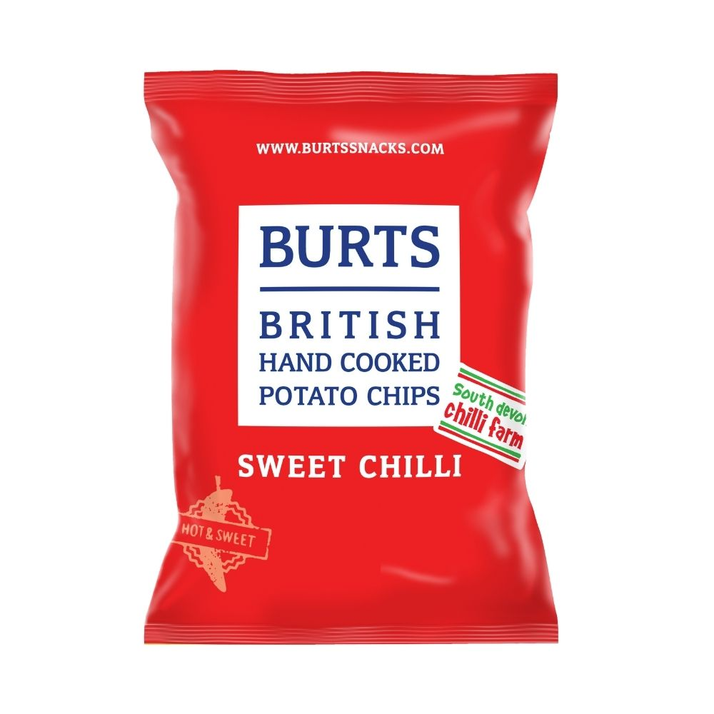 Burts Sweet Chilli Chips 150G - Snacks | Oasis