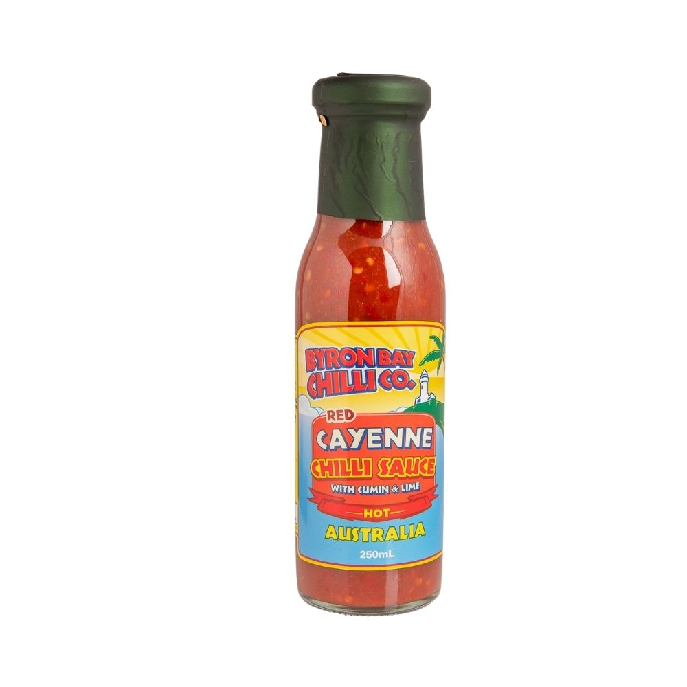Byron Bay Chilli Co. Red cayenne chilli sauce 250ml - Oasis