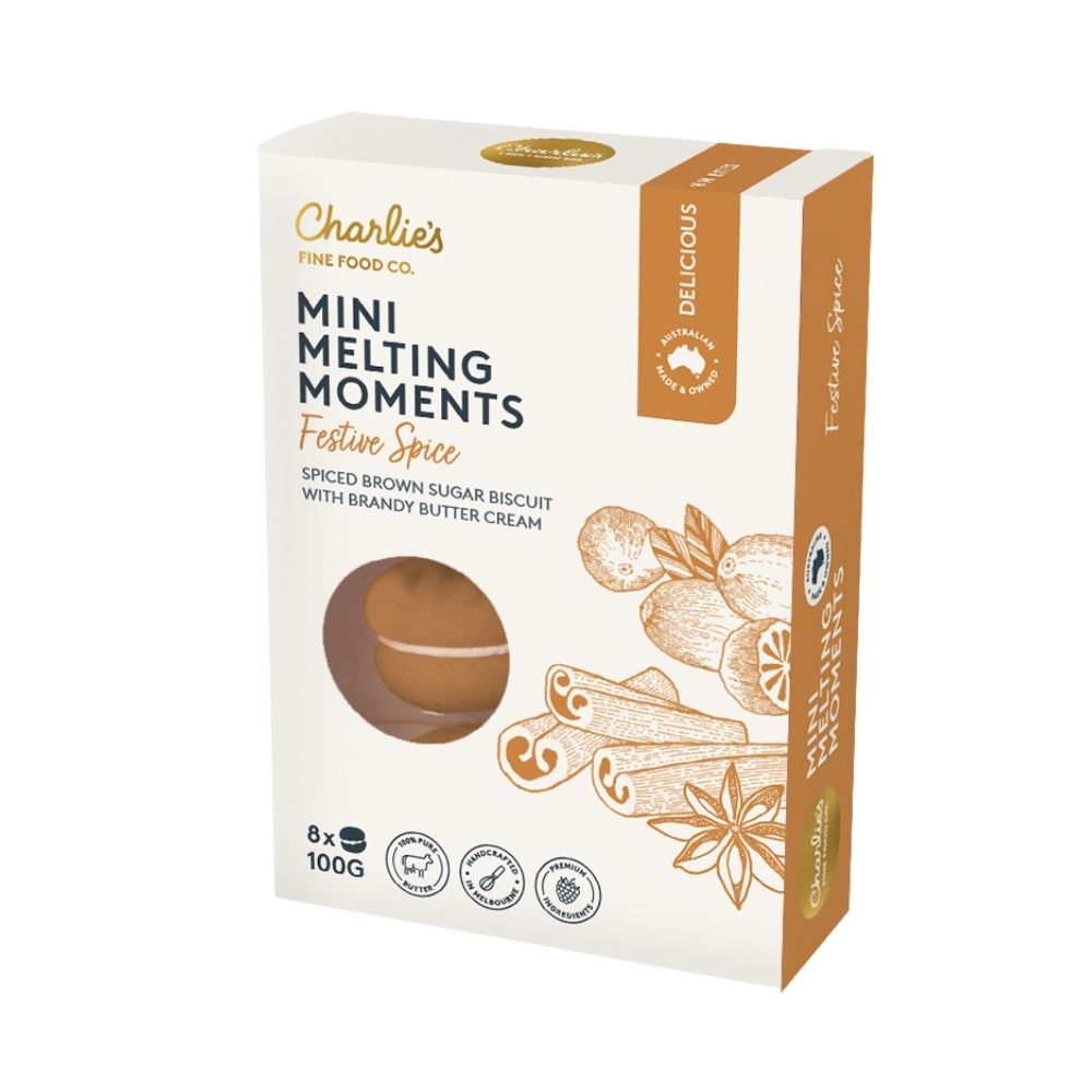 Charlie's Mini Melting Moments Festive Spice 100G - Oasis