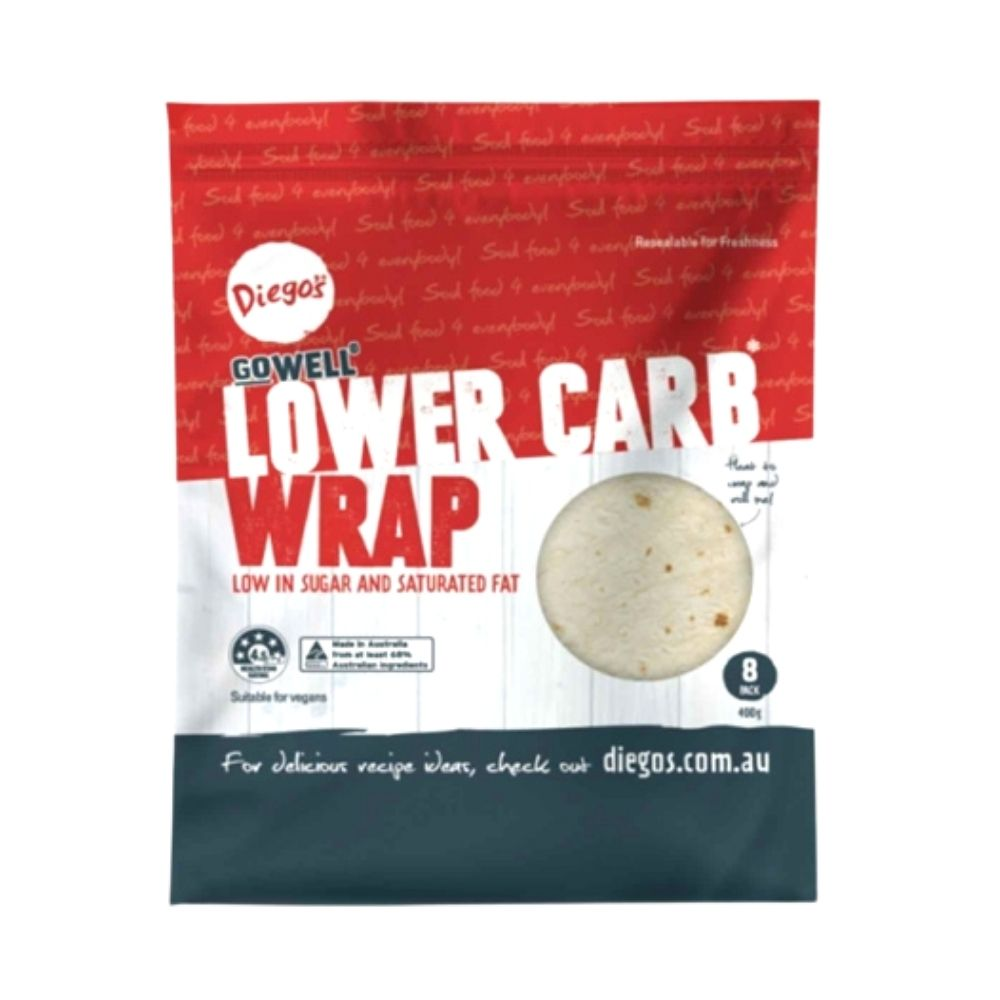 Diego's GoWell Lower Carb Wrap - 8Pack - Oasis