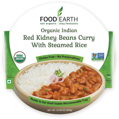 Food Earth Organic Red Kidney Beans Curry with Steamed Rice 300G - ready to eat | Oasis