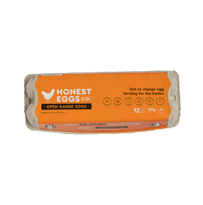 Honest Eggs Co Open Range Eggs 700G - Dairy & Eggs | Oasis