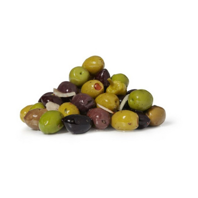 Marinated Pitted Mixed Olives 300G - olive | Oasis