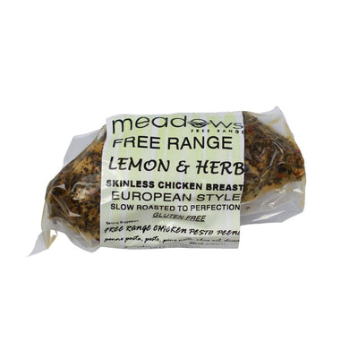 Meadows Free Range Lemon & Herb Chicken Breast 220g - Oasis