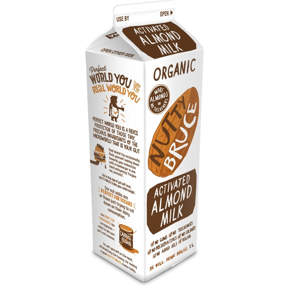 Nutty Bruce Activated Almond Milk 1L - Oasis
