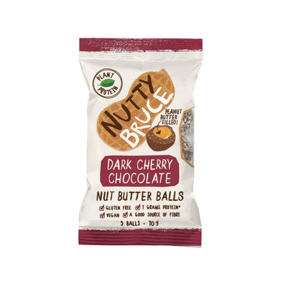 Nutty Bruce Nut Butter Balls Dark Cherry Chocolate 70G - Oasis