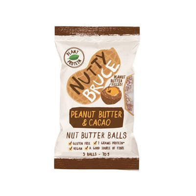 Nutty Bruce Nut Butter Balls Peanut Butter & Cacao 70G - Oasis