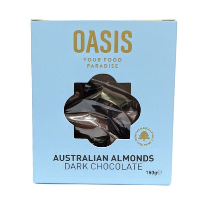 Oasis Australian Almonds Dark Chocolate 150G - Nuts and Dried Fruit | Oasis