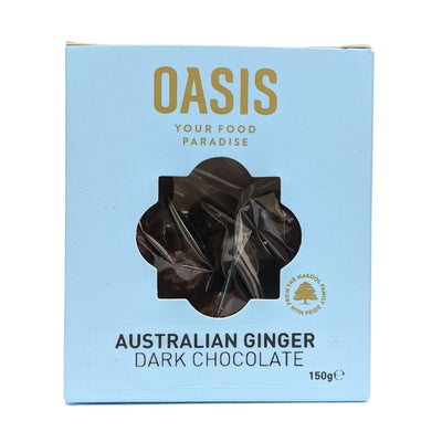 Oasis Australian Ginger Dark Chocolate 150G - Nuts and Dried Fruit | Oasis