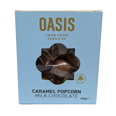 Oasis Caramel Popcorn Milk Chocolate 150G - Nuts and Dried Fruit | Oasis