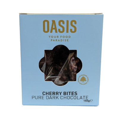 Oasis Cherry Bites In Pure Dark Chocolate 150G - Nuts and Dried Fruit | Oasis