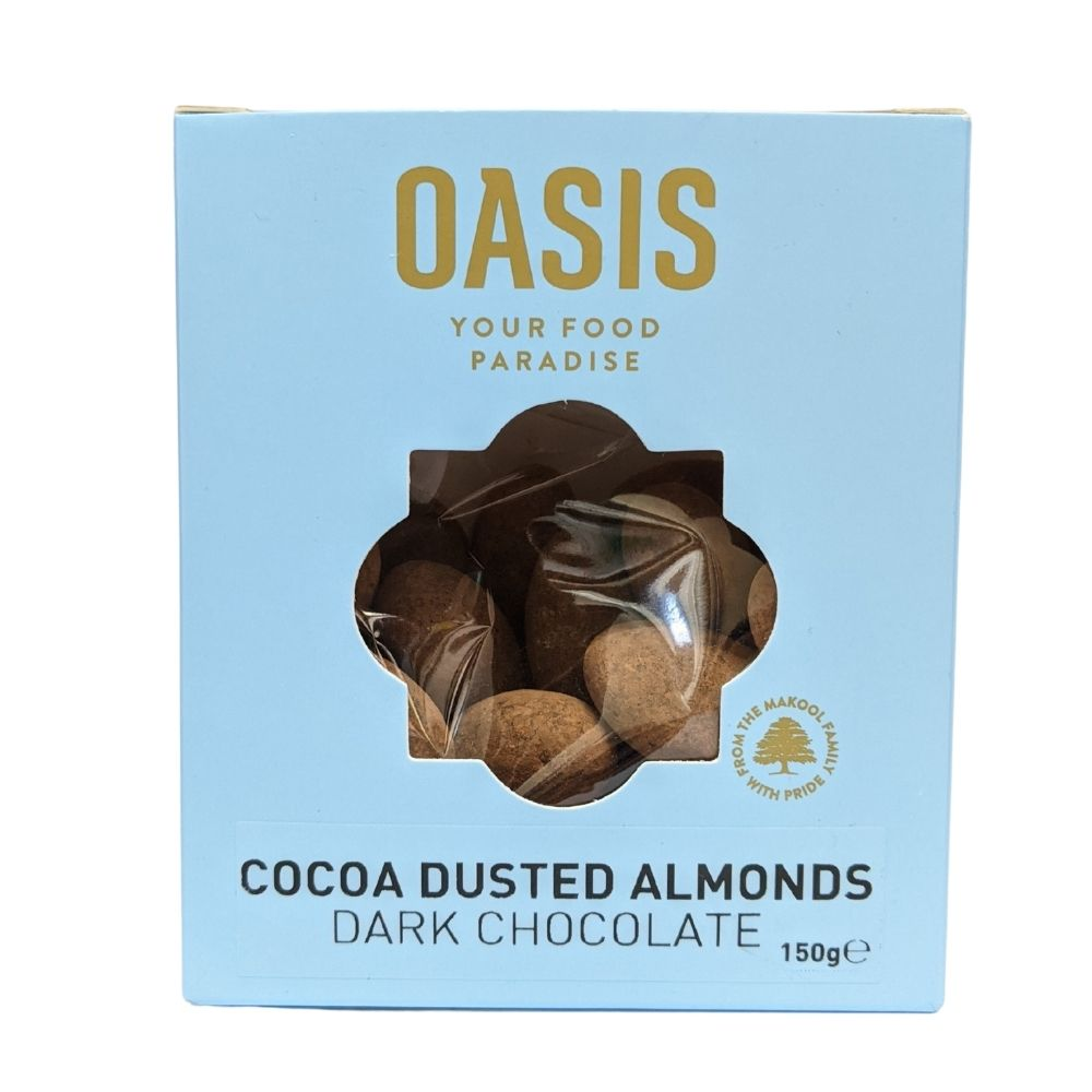 Oasis Cocoa Dusted Almonds Milk Chocolate 150G - Nuts and Dried Fruit | Oasis