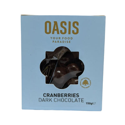 Oasis Cranberries Dark Chocolate 150G - Nuts and Dried Fruit | Oasis
