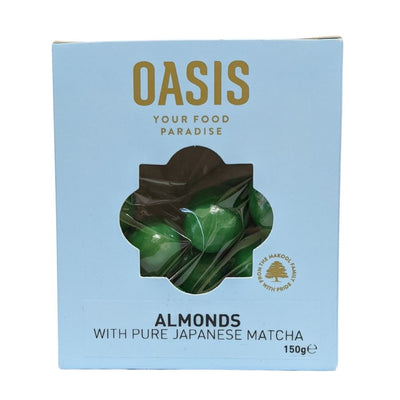 Oasis Matcha Almonds With Pure Japanese Matcha 150G - Nuts and Dried Fruit | Oasis