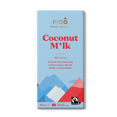 Pico Coconut Milk 55% Cocoa Chocolate 80G - snacks | Oasis