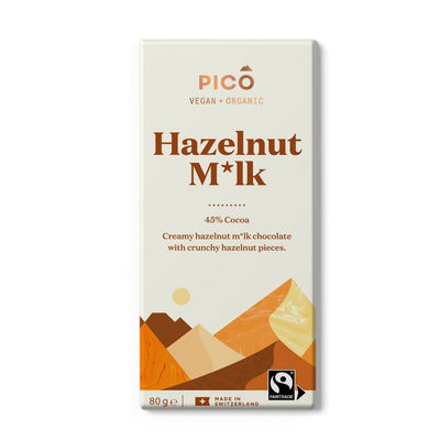 Pico Hazelnut Milk 45% Cocoa Chocolate 80G - snacks | Oasis