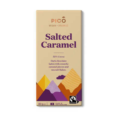 Pico Salted Caramel 52% Cocoa Chocolate 80G - snacks | Oasis