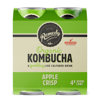 Remedy Kombucha Ranges Can 4x250ML - Oasis