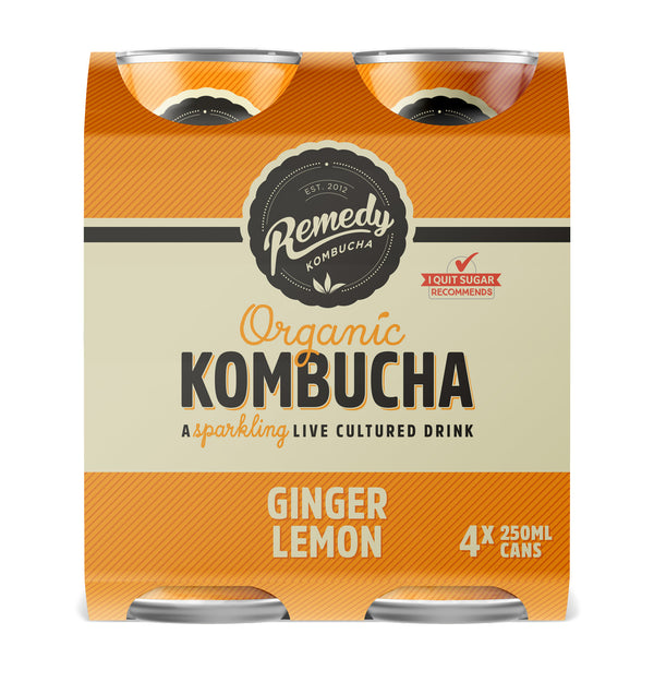 Remedy Kombucha Ranges Can 4x250ML - Beverages | Oasis