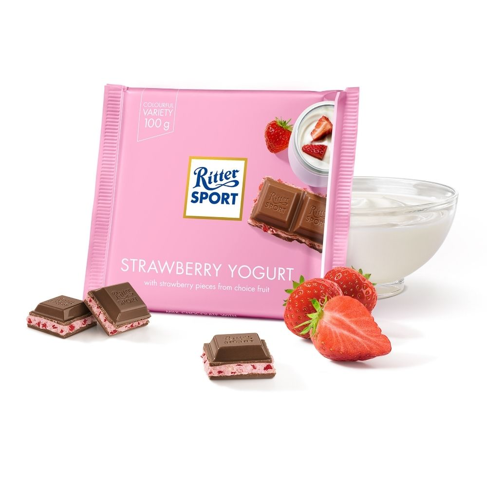 Ritter Sport Strawberry Yogurt 100G - Oasis