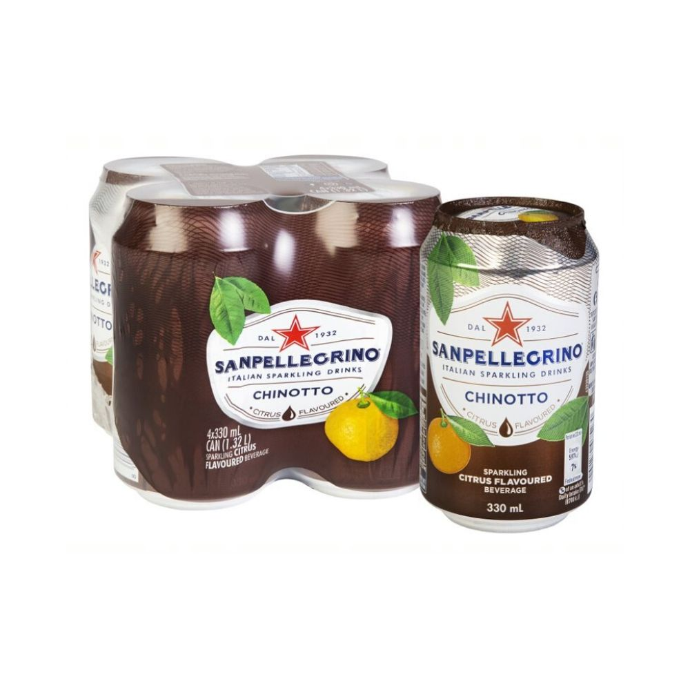 San Pellegrino Chinotto Can 4 x 330ML - Beverages | Oasis