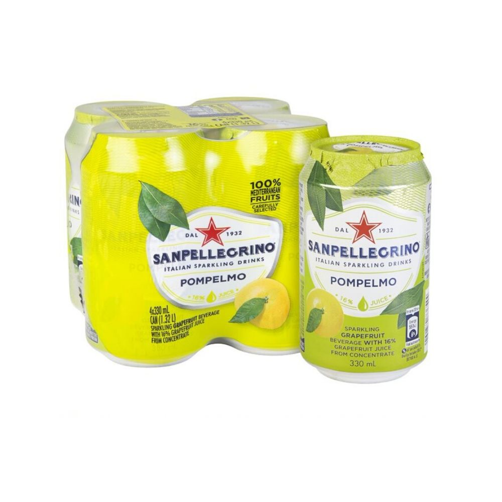 San Pellegrino Pompelmo Can 4 x 330ML - Beverages | Oasis