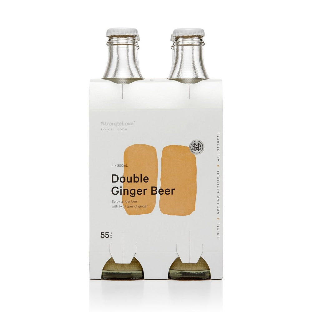 Strangelove Double Ginger Beer Lo-Cal Soda 4 x 300ML - Oasis