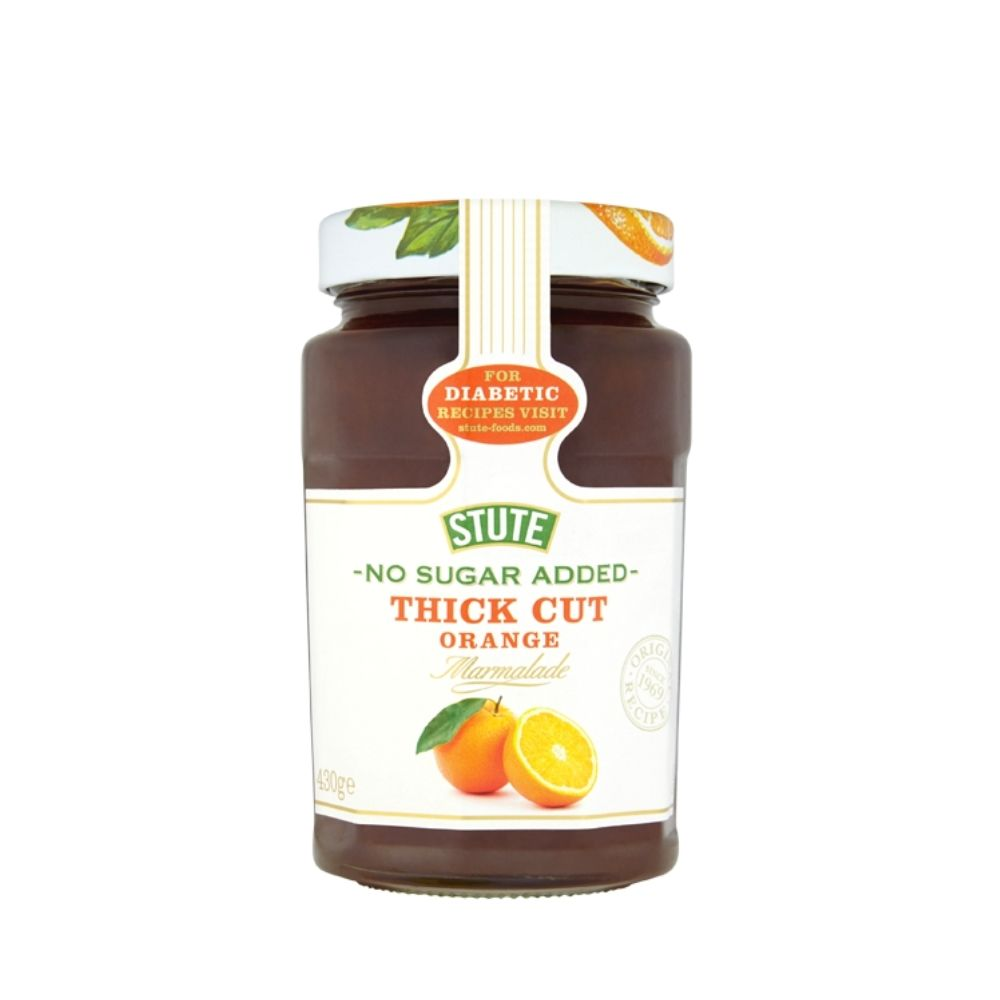 Stute Diabetic Thick Cut Orange Jam 430g - Oasis