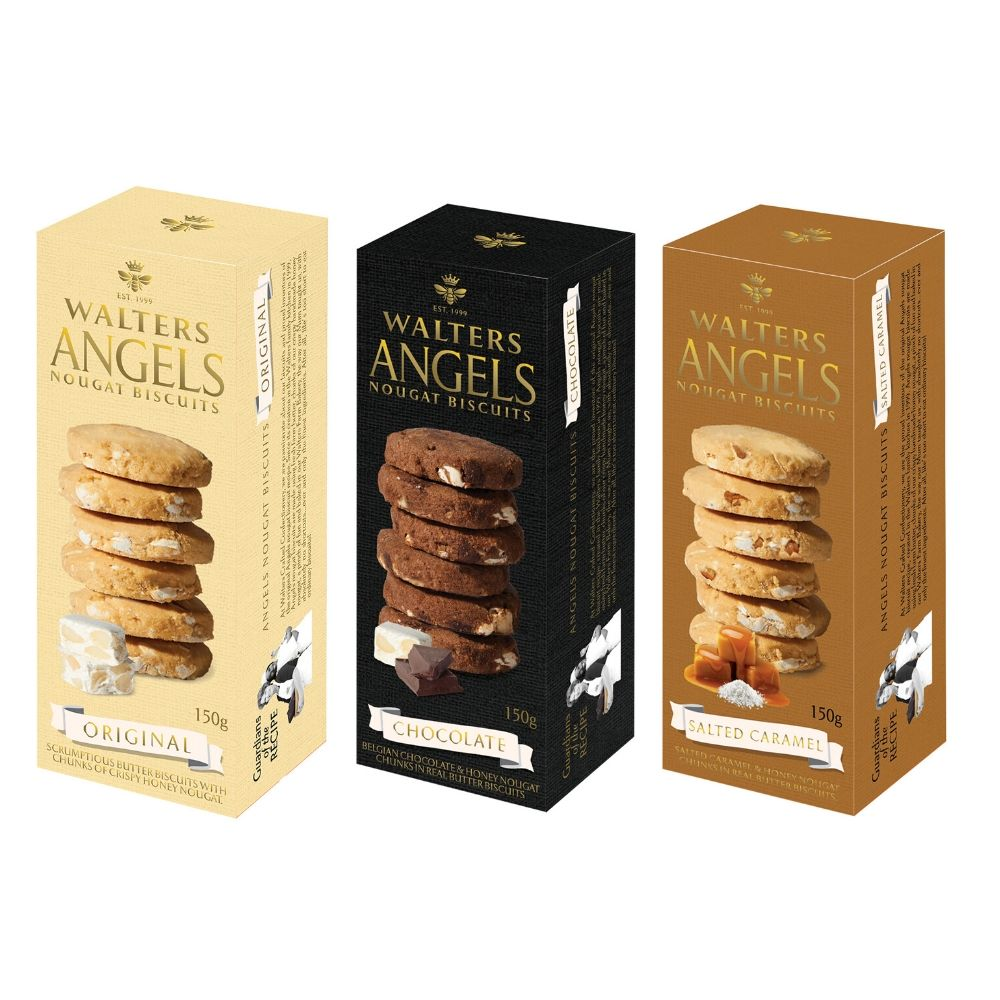Walters Angels Nougat Biscuits Range 150G - Snacks | Oasis