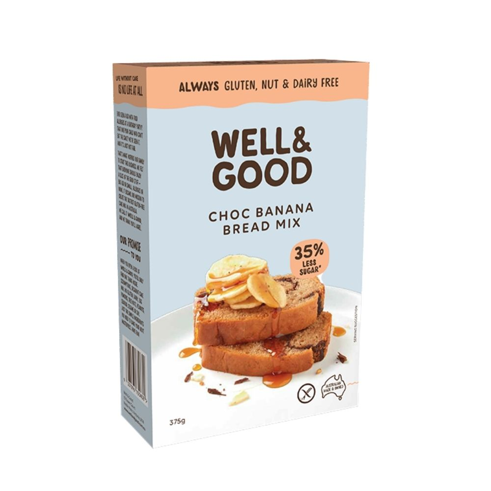 Well & Good Gluten Free Banana Bread Mix 375G - Oasis