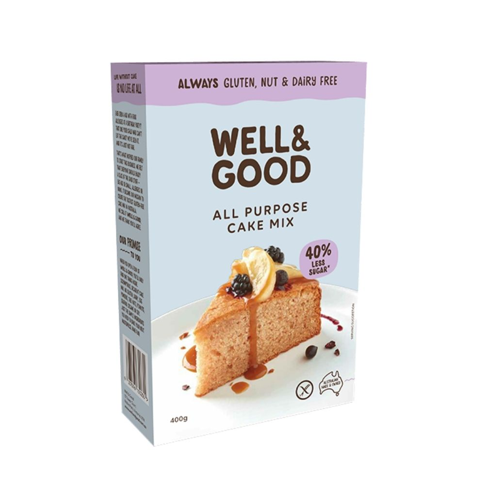 Well & Good Reduced Sugar All Purpose Cake Mix 400G - Oasis