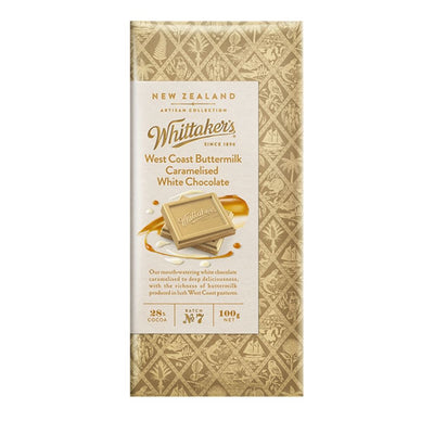 Whittaker's 28% Cocoa West Coast Buttermilk Artisan Chocolate 100G - snacks | Oasis
