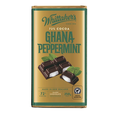 Whittaker's 72% Ghana Peppermint Chocolate 250G - snacks | Oasis