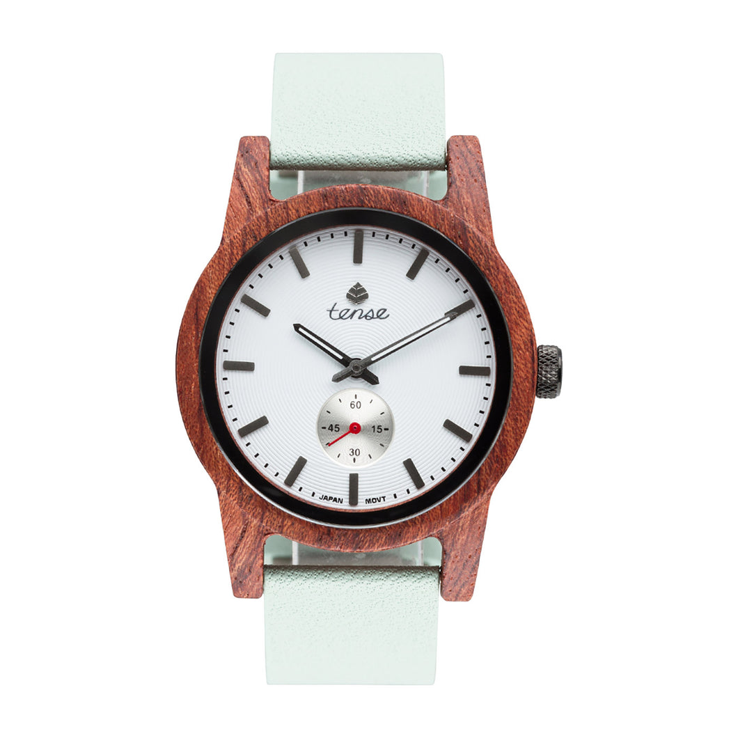 Leather Hampton Wooden Watch