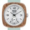 Robson Wooden Watch with Leather Band