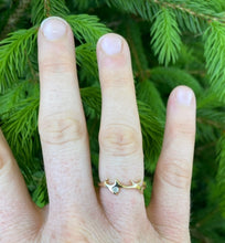 Load image into Gallery viewer, Yellow Gold with Diamond Stag Ring