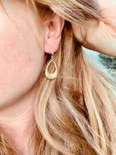 Load image into Gallery viewer, Large Yellow Gold Tear Drop Earring
