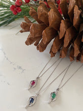 Load image into Gallery viewer, Coloured Stone and Diamond Pendants