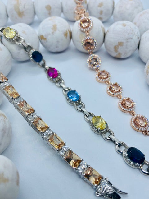 Coloured Stone Bracelets