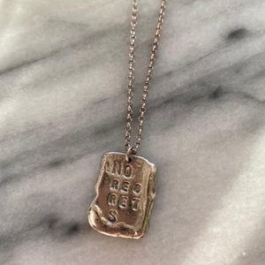 No Regrets Pendant